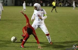 Niloufar Ardalani, star du futsal iranien.