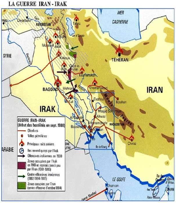 Carte du conflit