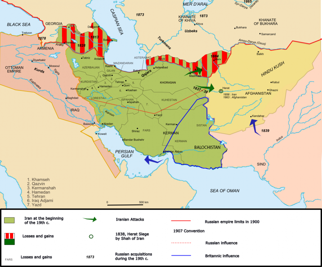 Dynastie kadjar vers 1900