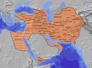 L'empire sassanide à son apogée (621 ap. J.-C.)