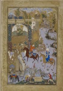 Miniature extraite du manuscrit Khamsa de Mazani