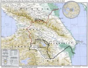 Modifications dues au traité de Golestan et les pertes territoriales de la Perse.