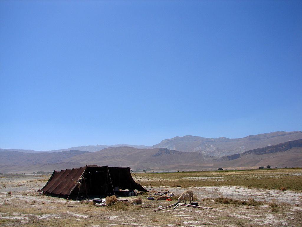 Campement nomade en Iran