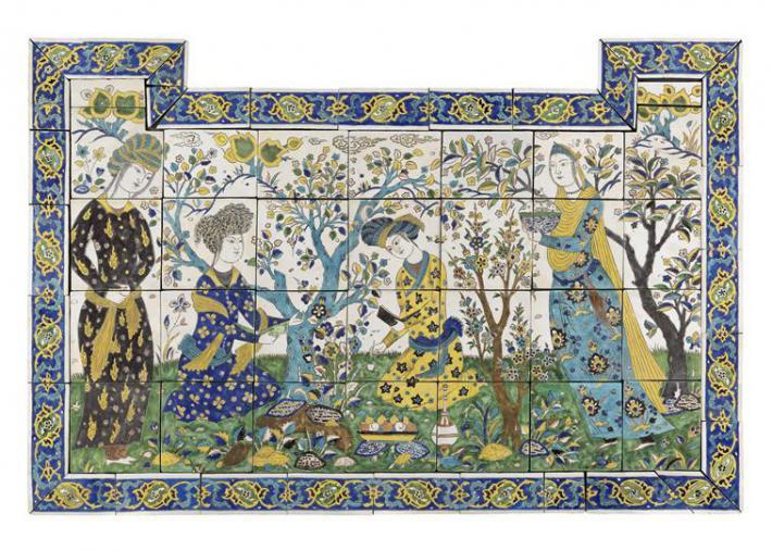 Scène de jardin à Ispahan