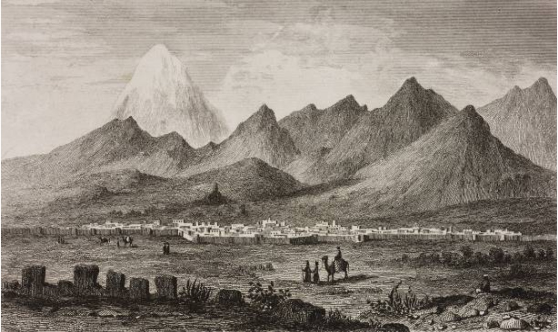 Vue de Téhéran, vers 1800.