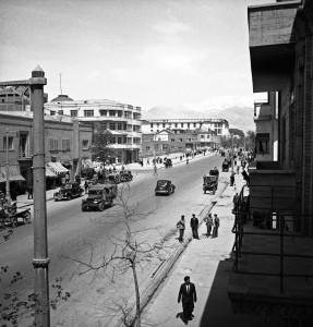 L'avenue Ferdowsi en 1946