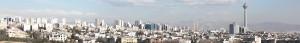Vue panoramique de Téhéran, 2012.
