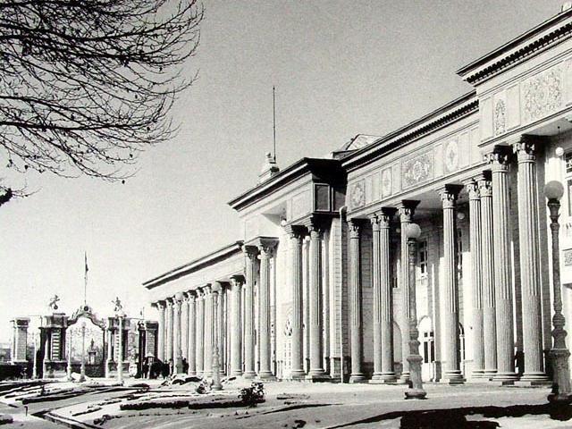 Le Parlement iranien (Majles) en 1956.