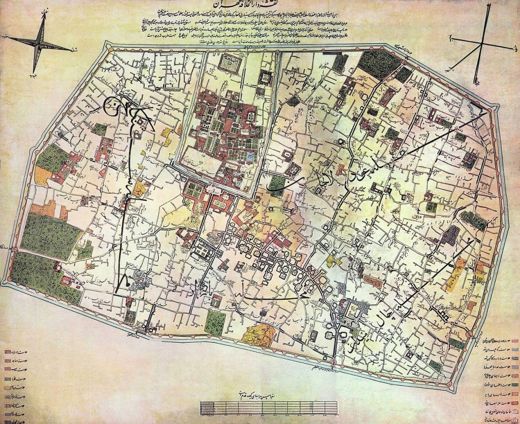Plan de Téhéran en 1857