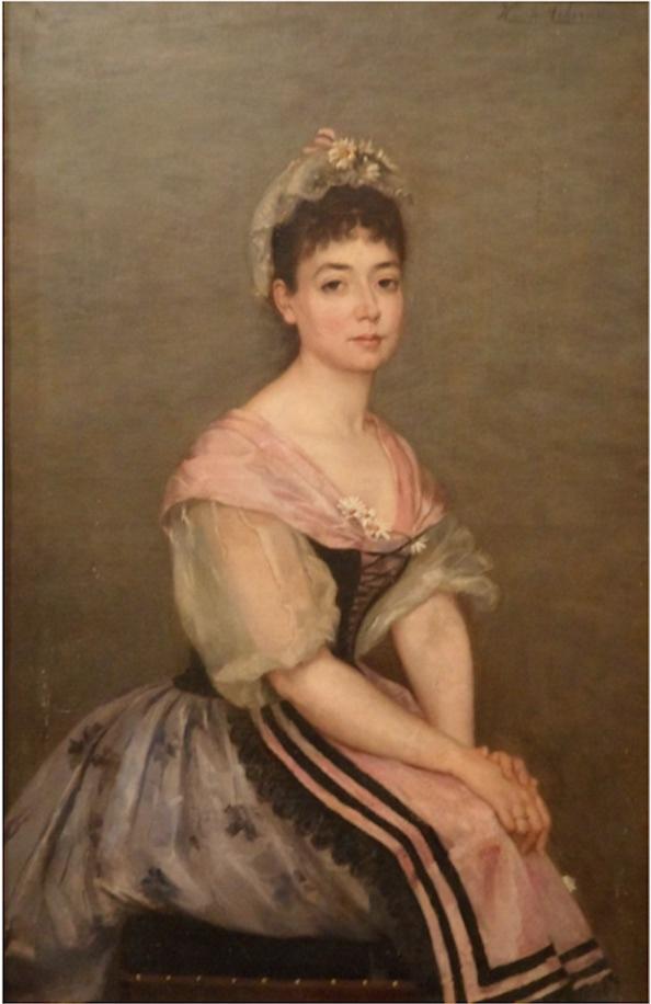 Autoportrait d'Henriette de Téhéran en Niçoise (?).