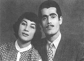 Forough Farrokhzad et son mari Parviz Shapour.