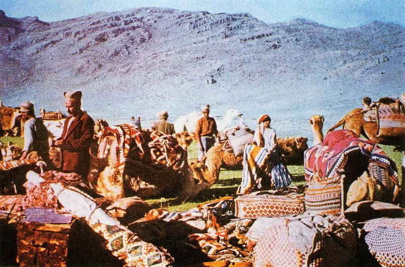 Caravane kachkaï en bivouac