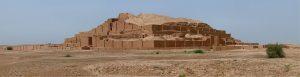 ue panoramique de Dur Untash Napirisha, la zigourat élamite de Tchogha Zanbil, province du Khuzestan, Iran. Image résultant de la combinaison de 4 vues.