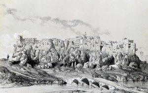 Yezd-i-Kast par Eugène Flandin, 1840 («Voyage en Perse», avec Flandin, éd. Gide et Baudry, 1851).