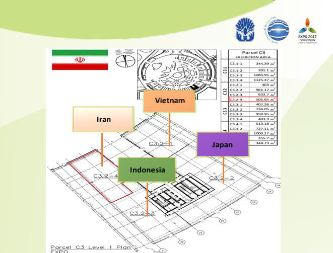 Situation du pavillon de l'Iran