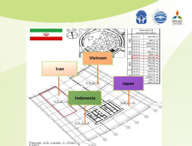 Situation du pavillon de l'Iran