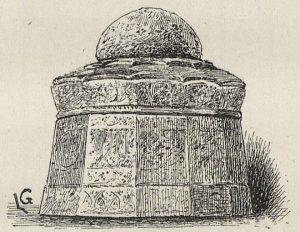 Vase coffret en bronze à incrustations d'or et d'argent. (Exposition Universelle de 1889.) Dessin de Lucien Laurent-Gsell.