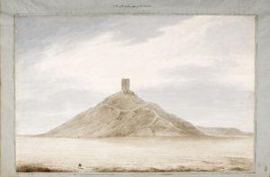 La face Ouest de Birs Nimrood. Cette tour aurait été construite sur le site de la fameuse tour de Babel.