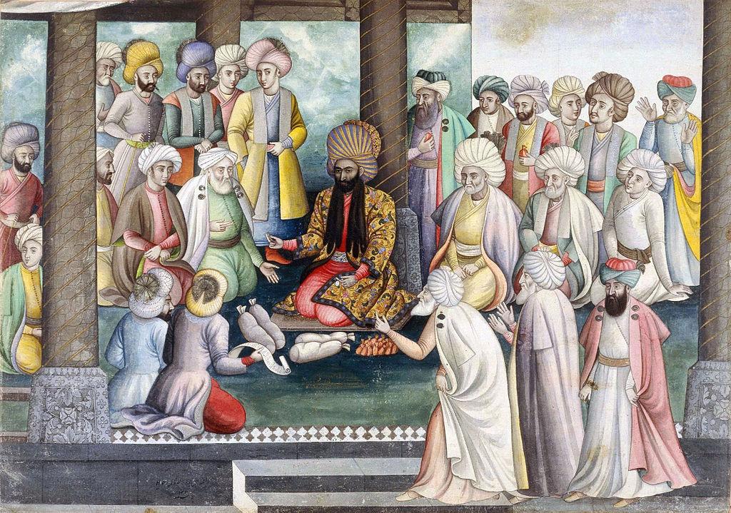 Shah Sultan Hussein durant Norouz.