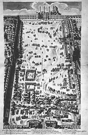 Le grand bazar d'Ispahan en 1703.