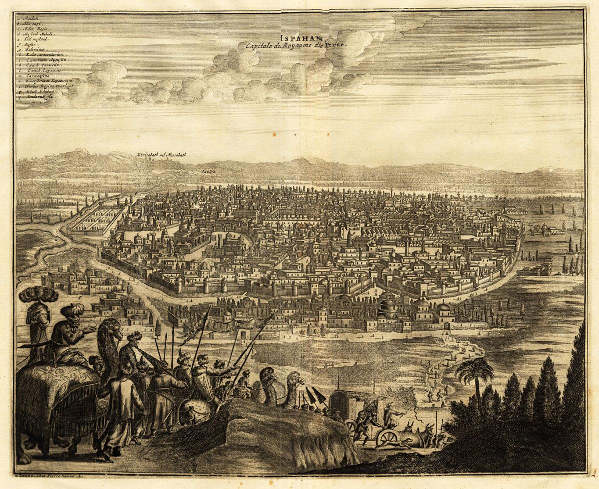 Vue d'Ispahan vers 1725.