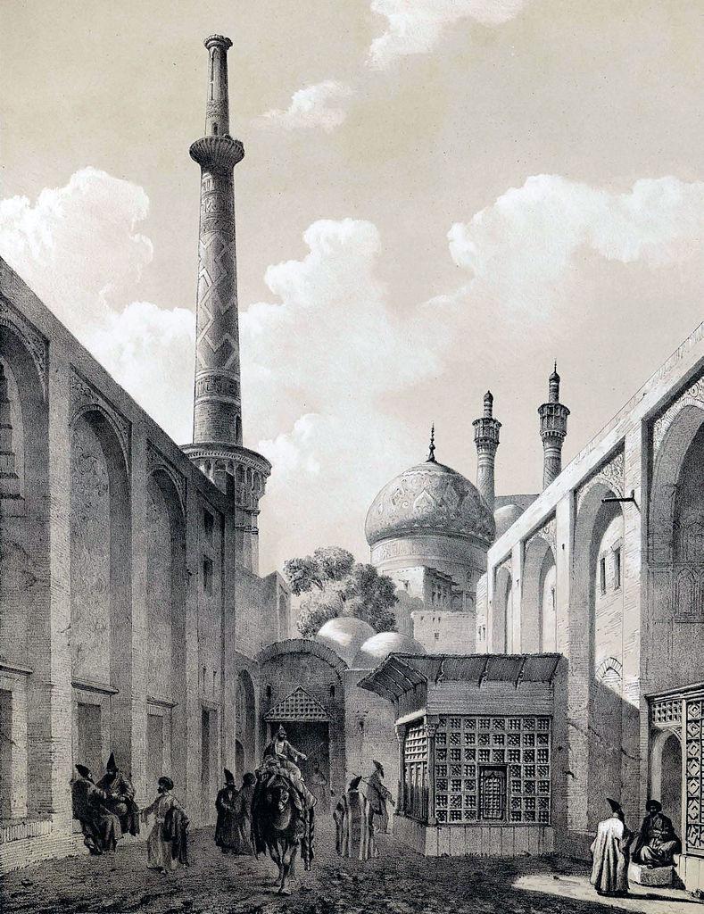 Le minaret d'Ali en 1840.