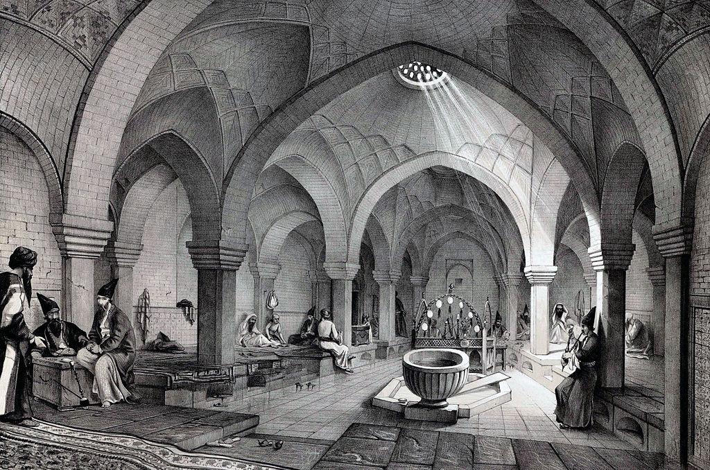 Les bains Khosro Agha en 1840.