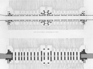 Plans du pont de Khaju en 1840.