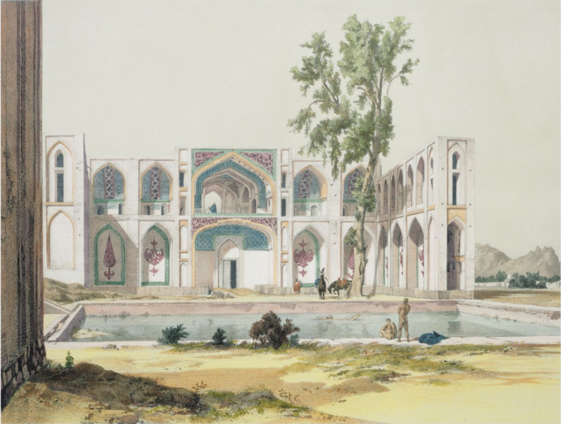 Le palais de Chahâr-bâgh.