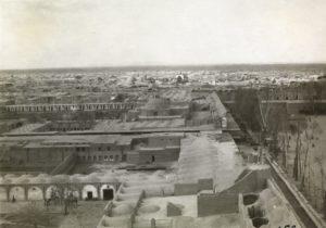 Vue panoramique d'Ispahan en 1925.