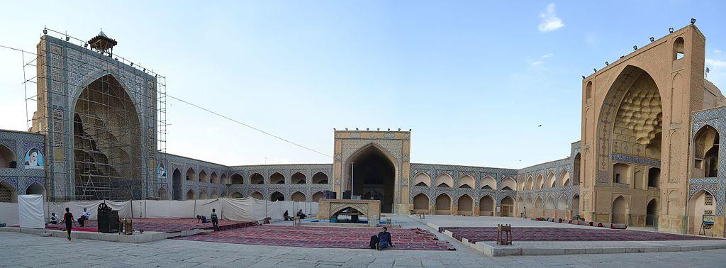La grande mosquée d'Ispahan ou mosquée du Vendredi (juin 2017).
