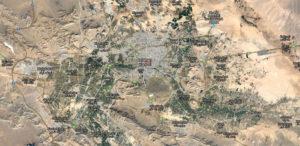 Vue satellite d'Ispahan.
