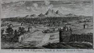 Vue de la ville d'Ispahan (1673).