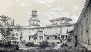 Palais Char-Bagh en 1840.