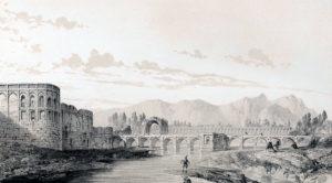 Le palais Haft Dast en 1840.