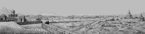 Panorama d'Ispahan en 1840.