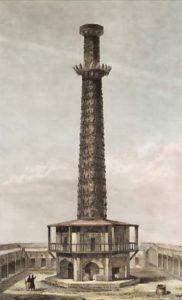 La tour des Cornes en 1852.