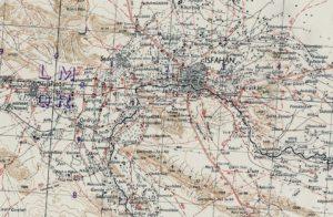 Carte d'Ispahan en 1942.